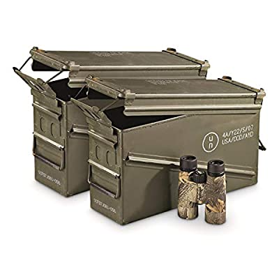 Surplus U.S. Military Waterproof PA120 40mm Ammo Can, 2 Pack, Used