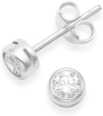 Heather Needham - Pendientes de plata de ley con circonita cúbica (5555 circonitas)