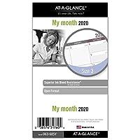 AT-A-GLANCE 2020 マンスリープランナー詰め替え デイランナー 3-3/4インチ x 6-3/4インチ ポータブルサイズ3 ルーズリーフ(063-685Y)