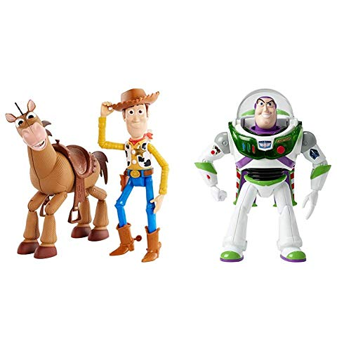 Toy Story Disney Pixar Woody and Bullseye Adventure Pack & Disney Pixar Toy Story Blast-Off Buzz Lightyear Figure
