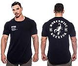 ZHUIABA - Camiseta de algodón para hombre, diseño de patchwork, C15., large