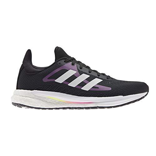 adidas Solar Glide W, Zapatillas para Correr Mujer, Core Black/FTWR White/Screaming Pink, 37 1/3 EU