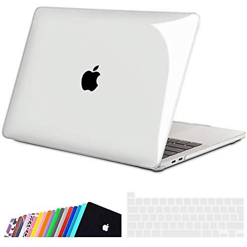 iNeseon Coque pour MacBook Pro 13 Pouces (2020), Protection Housse Rigide Étui avec Couverture de Clavier pour Nouveau Macbook Pro 13 avec Touch Bar A2338(M1) A2251 A2289, Cristal Clair