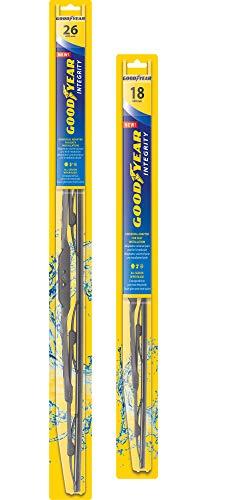 Goodyear Integrity Windshield Wiper Blades, 26 Inch & 18 Inch
