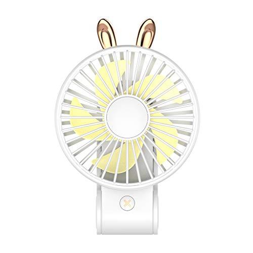 S-TROUBLE 270 Gradi Regolabile Carino Coniglio Coniglio Mini USB Pieghevole Ventilatore Portatile Facile da trasportare Piccolo Ventilatore con Corda appesa Forniture di Raffreddamento Estivo