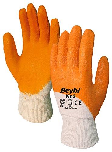 Arbeitshandschuhe Beybi 12er Packung EN 388 - Beschichtete Handschuhe für Arbeit, Garten und Haushalt EN 420, XL 10