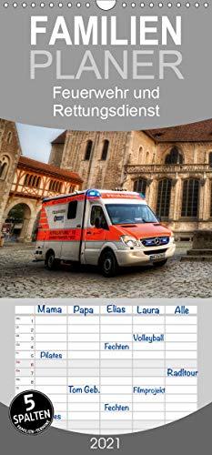Feuerwehr und Rettungsdienst - Familienplaner hoch (Wandkalender 2021, 21 cm x 45 cm, hoch)