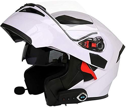 Casco De Moto Abatible Casco De Moto Modular Con Bluetooth Integrado ECE...