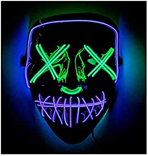 Double Color Led - Halloween Led Mask - Led Face Mask - Led Purge Mask - Prime by BAYDELKU