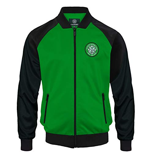 Celtic FC Official Soccer Gift Mens Retro Track Top Jacket XL