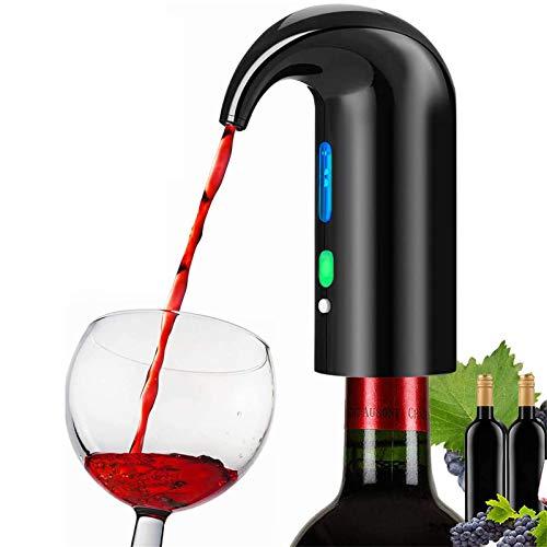 Dispensador automático del vino Electric Wine Airator Voiler Filter Filter Filter Pourer Sput, Portable Touch Vino Decanter USB Recargable Sput Poulder para los aman black-16.5 * 11.5 * 6cm