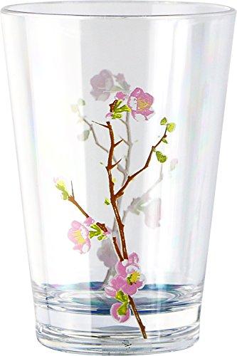 Corelle Coordinates Cherry Blossom 8-Ounce Acrylic Glass, Set of 6