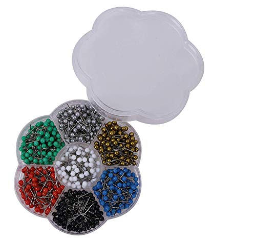 Tupalizy 1/8 Inch Multi-Colored Small Map Tacks Round Head Pushpins for Bulletin Board DIY Craft and Home Office Use, 7 Colors, Black, Red, White, Blue, Silver, Gold, Green, Each Color 100PCS, 700PCS