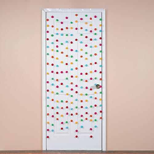 Fun Express - Fiesta Pom Pom Door Cover for Cinco de Mayo - Party Decor - Door Decor - Door Borders & Curtains - Cinco de Mayo - 1 Piece