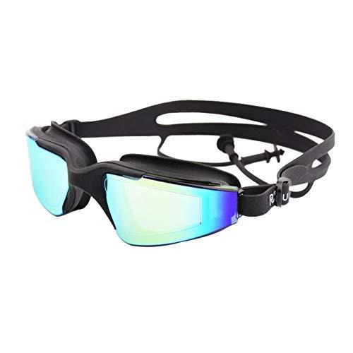 Wanderlife - Gafas de natación con tapones para los oídos, lentes polarizadas a prueba de fugas, lentes polarizadas y correas ajustables para adultos unisex, Negro
