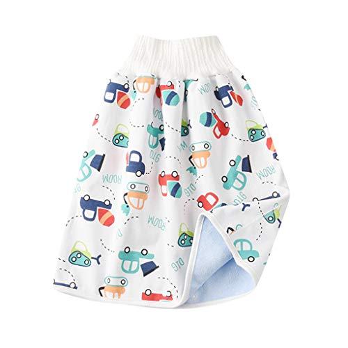 Baby Urinary Rock Bequeme Stoffwindeln Wiederverwendbare Windel Rock Shorts 2 in 1 Jungen Mädchen Hohe Taille Wasserdicht Trainingsrock, L, 0-4 Jahre