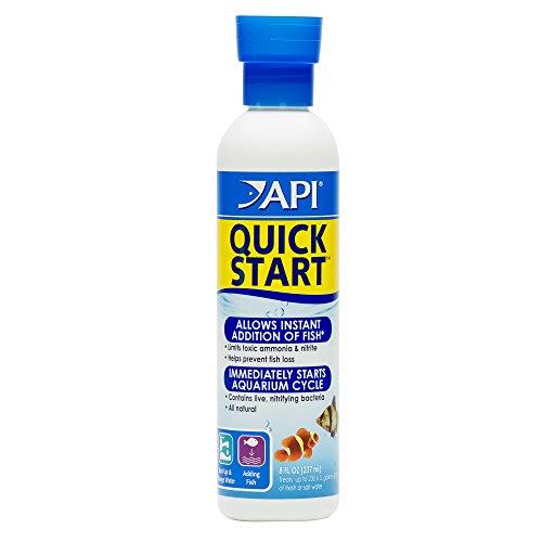 API Quick Start Agua Dulce y Salada Acuario Bacterias Nitrificantes Botella 237 ml