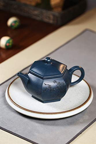 Teapot Famous Hand-Tea cup Day Qingni Hexagonal Lanterns Maker Tea Maker CRTTRC Teapot (Color : Purple mud)