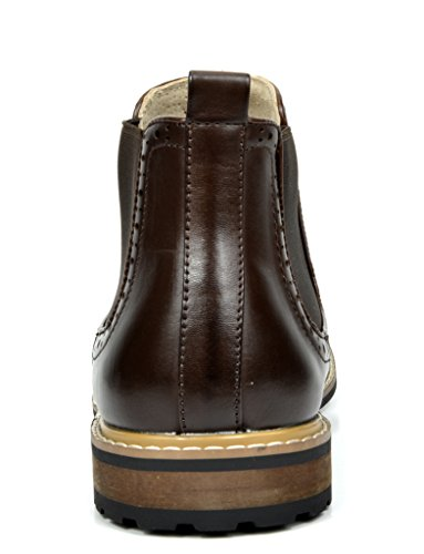 Bruno Marc Men's Bergen-05 Dark Brown Leather Lined Chelsea Dress Ankle Boots Size 8 M US