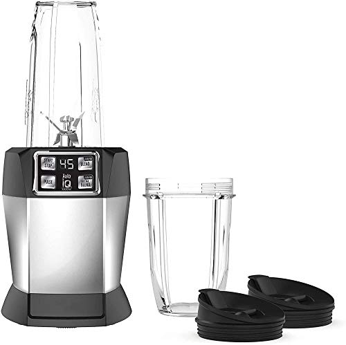 meimie00 BL480 Nutri with 1000 Watt Auto-IQ Base for Juices Shakes & Smoothies Personal Blender 18 and 24 oz. Black/Silver