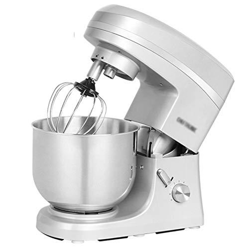 GAOLIGUO Amasadora 7L, 1000W 6 Velocidades Robot Cocina Multifuncional Mezclador de Alimentos Incluye 3 Accesorios de batido Amasadora para Repostería,Silver