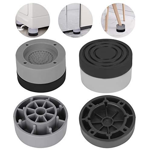 Amortiguador de Vibraciones para Lavadoras Upkey 4 Piezas Almohadillas Antivibración Lavadora Almohadillas Lavadora Universal Almohadillas Goma Antivibración para lavadora Soporte Lavadora, Gris, 4cm