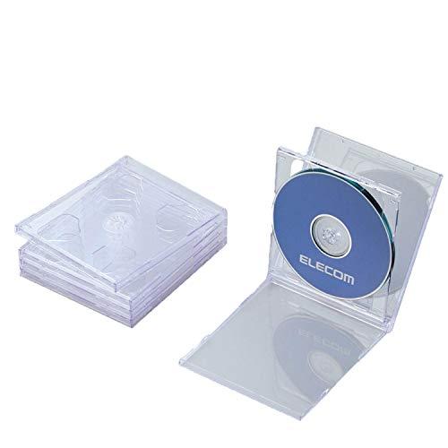 エレコム CD/DVDプラケース/2枚収納/5パック/ク...