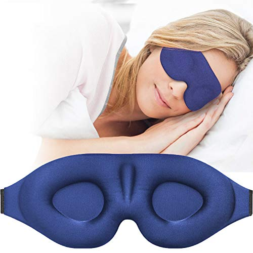 3D Sleep Mask, New Design Light Blocking Sleeping Eye Mask for Women Men, 3D Contoured...