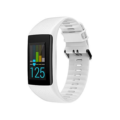 JAMAN Ersatz-Uhrenarmband, kompatibel mit Polar A360 A370 GPS-Uhr, Vollbildansicht und Metallverschluss, verstellbares Silikon-Armband für Damen und Herren