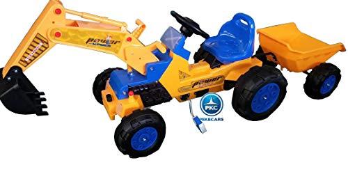 PEKECARS Tractor a Pedales Power Superior con Pala Excavadora Delantera