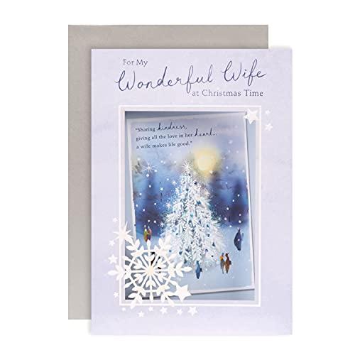 Biglietto di Natale per moglie di Hallmark – Design classico Illustrato