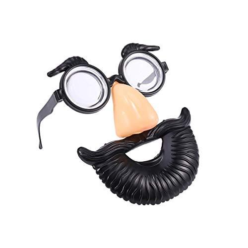 Soul hill Halloween-Party-Verkleidung Glas-lustige Brille gefälschte Nase Augenbrauen Blowing Bart Brille Tricky Requisiten (98026 Round Bart Brille) zcaqtajro
