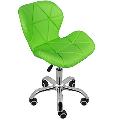 Charles Jacobs Dining/Office Swivel Chair with Chrome Legs with Wheels and Lift - Green PU
