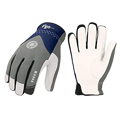 Vgo 2-Pairs 32? or Above 3M Thinsulate C40 Goatskin Leather with waterproof membrane Winter Gloves (Size M, Grey, GA8977FW)