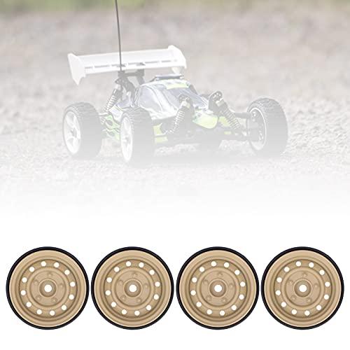 minifinker Cubos de Rueda RC Beadlock, Mano de Obra Exquisita Cubos de Rueda de Oruga RC Colisión Caída y decadencia para Hpi / TRX4 / SCX10 para Coche de Control Remoto(Yellow)