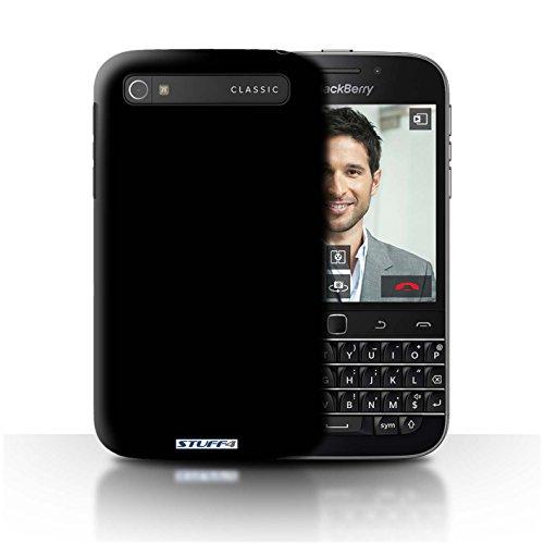 Hülle Für BlackBerry Classic/Q20 Farben Schwarz Design Transparent Ultra Dünn Klar Hart Schutz Handyhülle Case