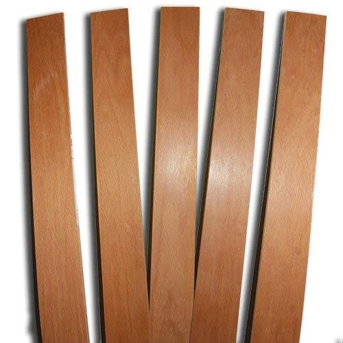 RETI D'AMORA 3 Listelli Curvati in Legno di Faggio - Ricambio per Doga – 6,8 X 79 X 0,8 Cm (Kit 3Pz) (75 X 6.8 CM)