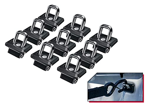 Bull Ring Bullet Inner Bed Retractable Tie-Down Anchors (9 Pack - Complete Bed Package)  fits '07-21 Chevy Silverado and GMC Sierra   fits '15-21 Chevy Colorado and GMC Canyon  
