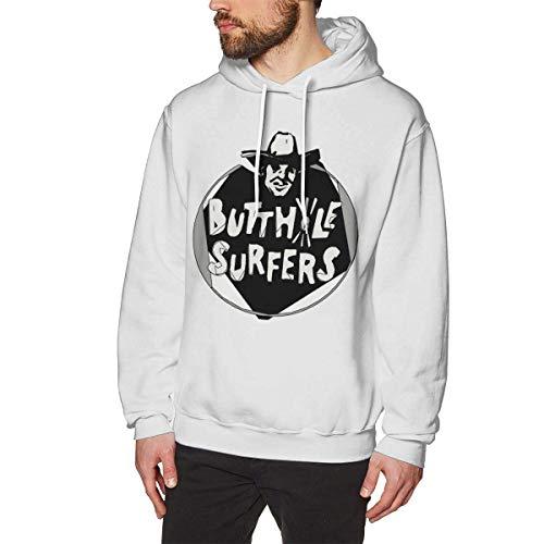 Aidyasd Butthole Surfers Herren Hoodie Sweatshirt Heavyweight Casual Long Sleeve T-Shirt Gr. Large, weiß