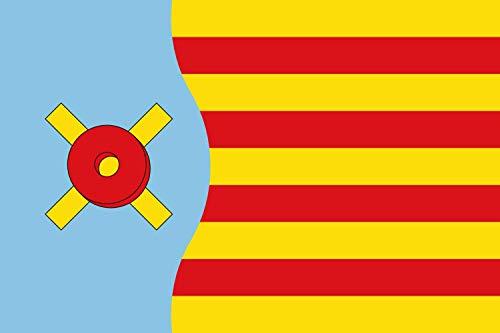magFlags Bandera Large Vallromanes, Barcelona, España   Bandera Paisaje   1.35m²   90x150cm
