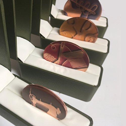 Amazon exclusivo patrón de costura Costura pesos de cobre macizo. 4unidades. Premium. 4unidades. Inspirado en la BBC costura abeja., Mirror Polished Marine Grade Stainless Steel, 60mm Diameter