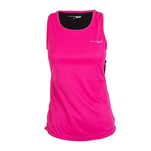 Softee T-Shirts Camisetas, Mujer, Color Fucsia/Negro, Medium