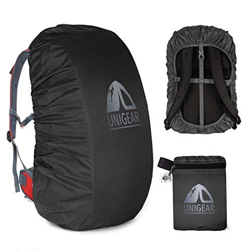 Unigear Regenschutz für Rucksäcke Schulranzen mit Reflektor, wasserdichte Regenhülle Rucksack Cover regenüberzug für Camping Wandern Backpack