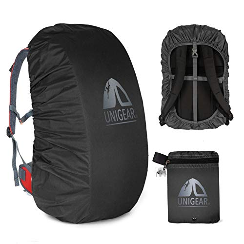 Unigear Funda Impermeable para Mochila 15~80L Cubierta de Bolsa Bolso Protector de Lluvia para Camping Senderismo Excursionismo