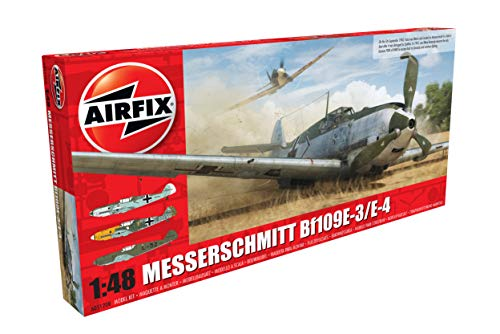 Airfix A05120B 1/48 Me109E-4/E-01 Modellbausatz Messerschmitt Me109E-4/E-1, grau