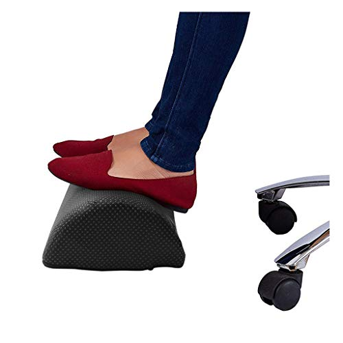 ErYao Foot Rest Under Desk Foot Stool Rocker Cushion, Foam Ergonomic Foam Footrest, Leg Support for Relieve Knee Pain, Tired, Aching & Sore Feet, Reduce Deep Vein Thrombosis (Black)