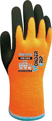 Wonder Grip WG-380 Thermo - Arbeitshandschuh mit Frostschutz, doppelter Latexbeschichtung; Anti-Rutsch Schutzhandschuhe für sicheres Greifen; M / 08