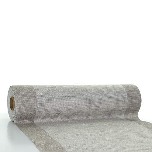 Sovie HORECA | Tischläufer Mailand aus Linclass® Airlaid | 40 cm x 24 m | 1 Stück (Grau)