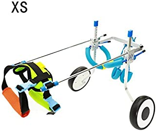 Silla de ruedas ajustable para perro pequeño (XS), peso de 2,26