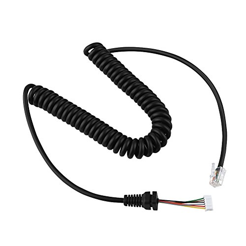 Tosuny Cable de micrófono Cable Adecuado para YEASU Radio de Coche y micrófono de Mano MH-48 Compatible con YEASU MH-48A6J, FT-7800, FT-8800, FT-8900, FT-7100M, FT-2800M, FT-8900R